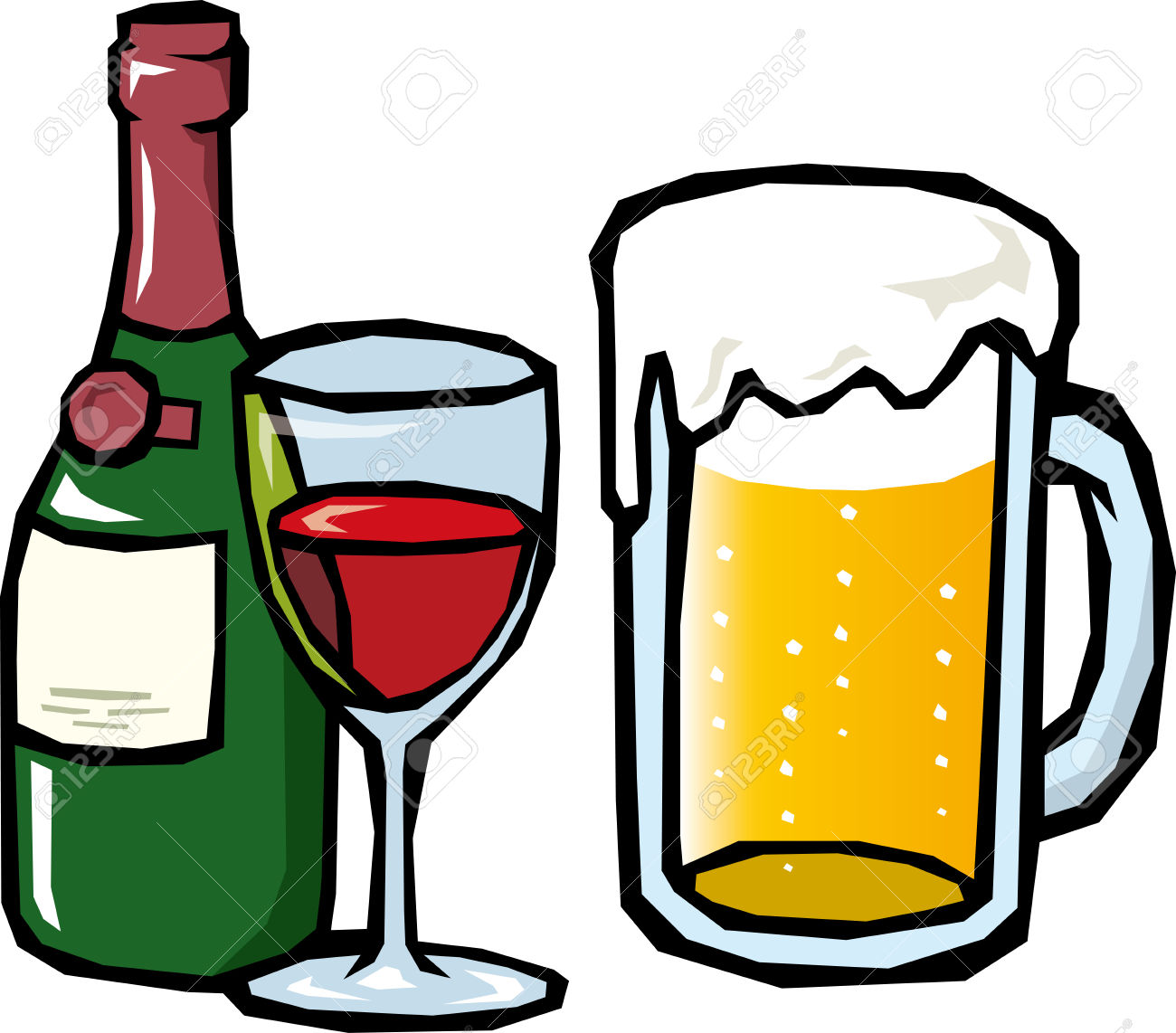 Beverage clipart beer Free Wine Clipartwork Clipart Clipart