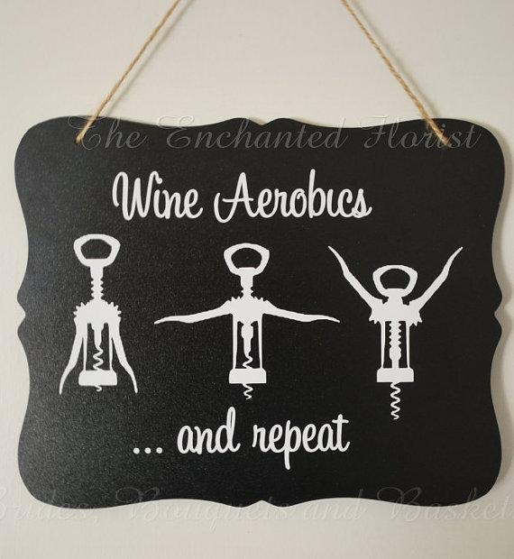 Wine clipart aerobic Aerobics chalkboard sign funny chalkboard