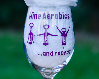 Wine clipart aerobic Wine glass gift Mothers Cute