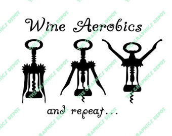 Wine clipart aerobic Etsy Wine file svg eps