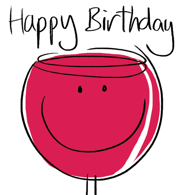 Wine clipart birthday  co  cardsgalore uk/wp