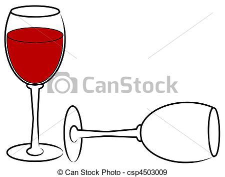 Wine clipart empty glass Full glass one empty Stock