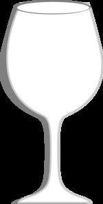Wine clipart empty glass Art at clip Clip Clker