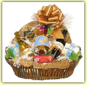 Wine clipart gift hamper Gift basket border art t