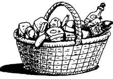 Wine clipart gift hamper Gift Basket  Clipart