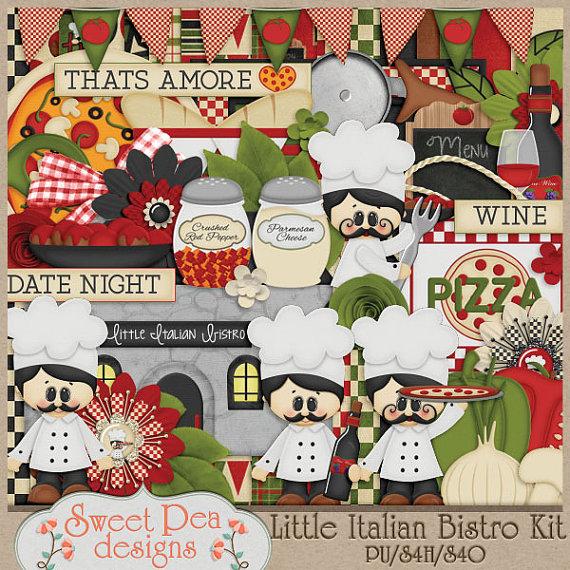 Wine clipart italian bistro Sweetpeadesignspf Kit Etsy Digital Kit
