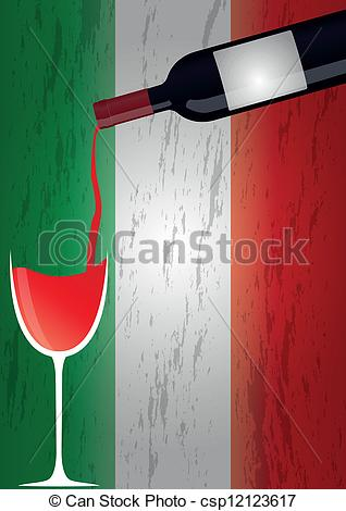 Wine clipart italy Italy bottles italy of Vector
