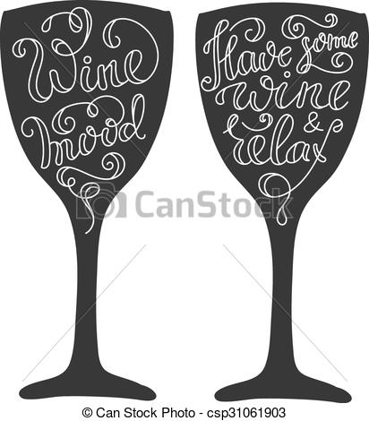 Wine clipart line On Vector wine Clipart glass