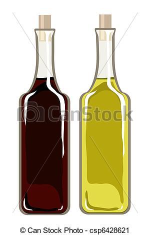 Bottle clipart vinegar Oil vinegar vector and Olive
