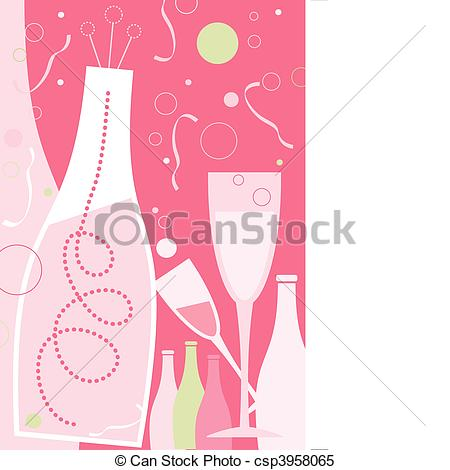 Wine clipart pink champagne In Light New in Theme