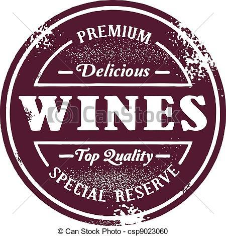 Wine clipart retro Vintage Stamp Style style Vintage