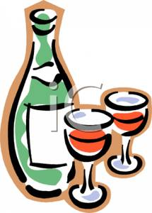 Wine clipart two A and Two Clipart and