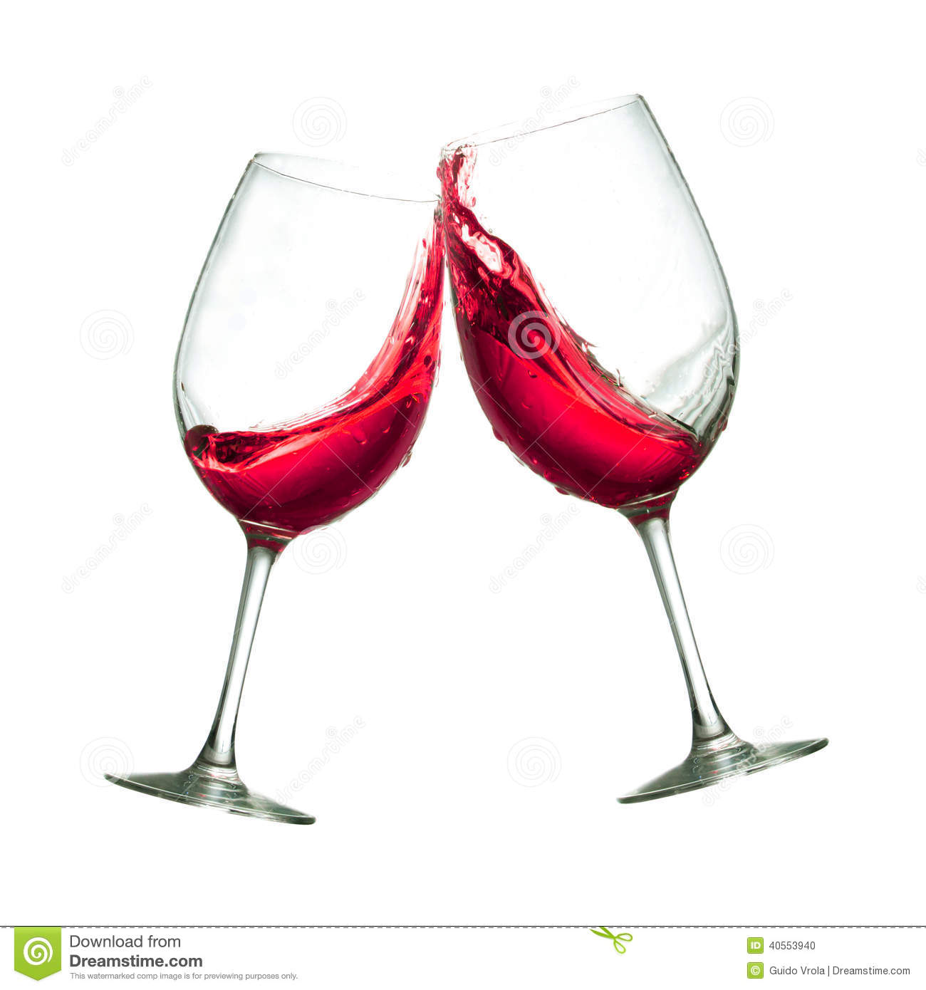 Wine clipart two Red toasting collection Glasses Stock