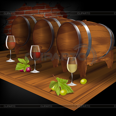 Wine clipart wine cellar Barrel from with Clipart EPS