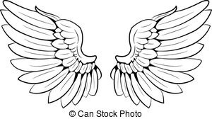Wings clipart A  vector wings Stock