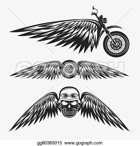 Biker clipart wing Clipart wings gg80365015 Biker with