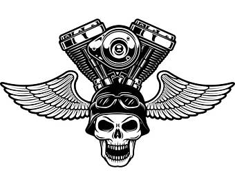 Biker clipart wing Tattoo Shop SVG  #2