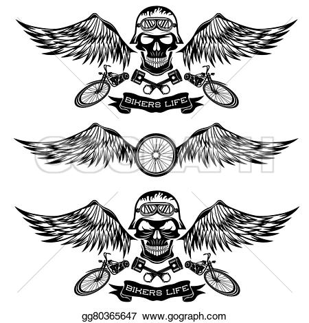 Biker clipart wing Clipart wings gg80365647 Biker with