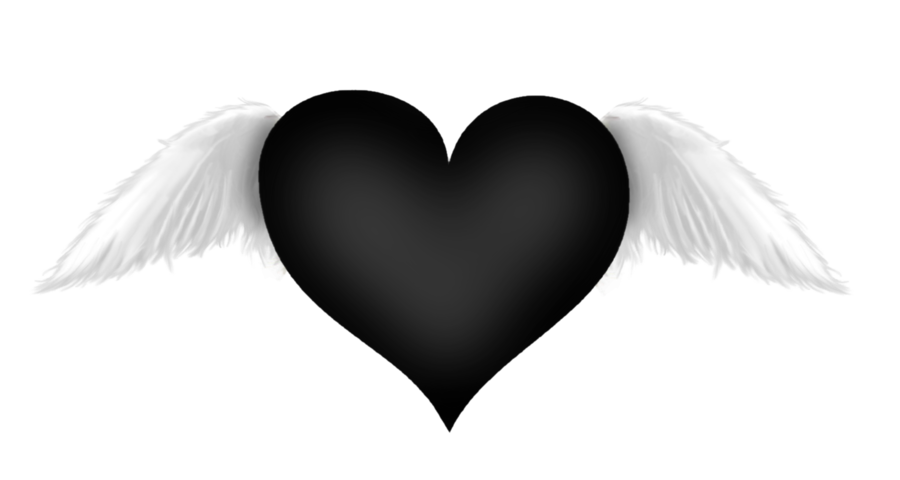 Wings clipart black heart Yopriceville  Wings Black Heart