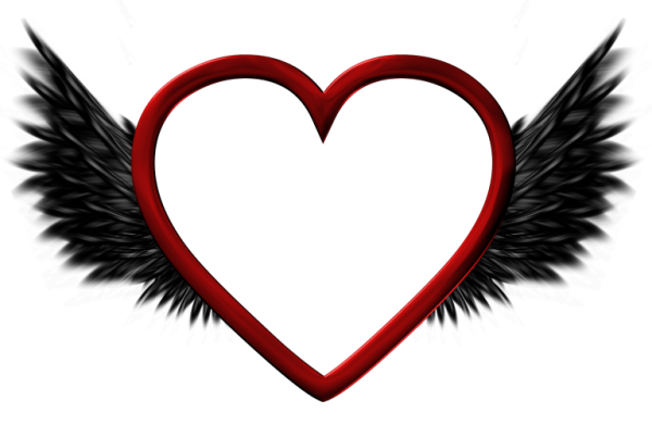 Wings clipart black heart Picture  Black Heart with