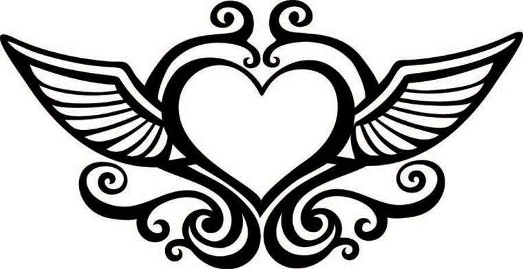 Wings clipart black heart Free Download Wings Free zoominmedical