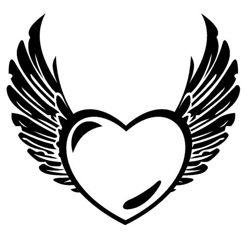 Wings clipart black heart ColoringStar pages black Heart coloring