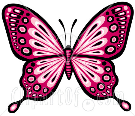 Colouful clipart butterfly wing #1