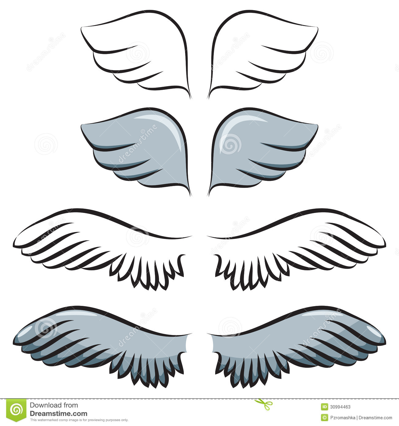 Wings clipart cartoon Wings Wings Simple Clipart Clipart