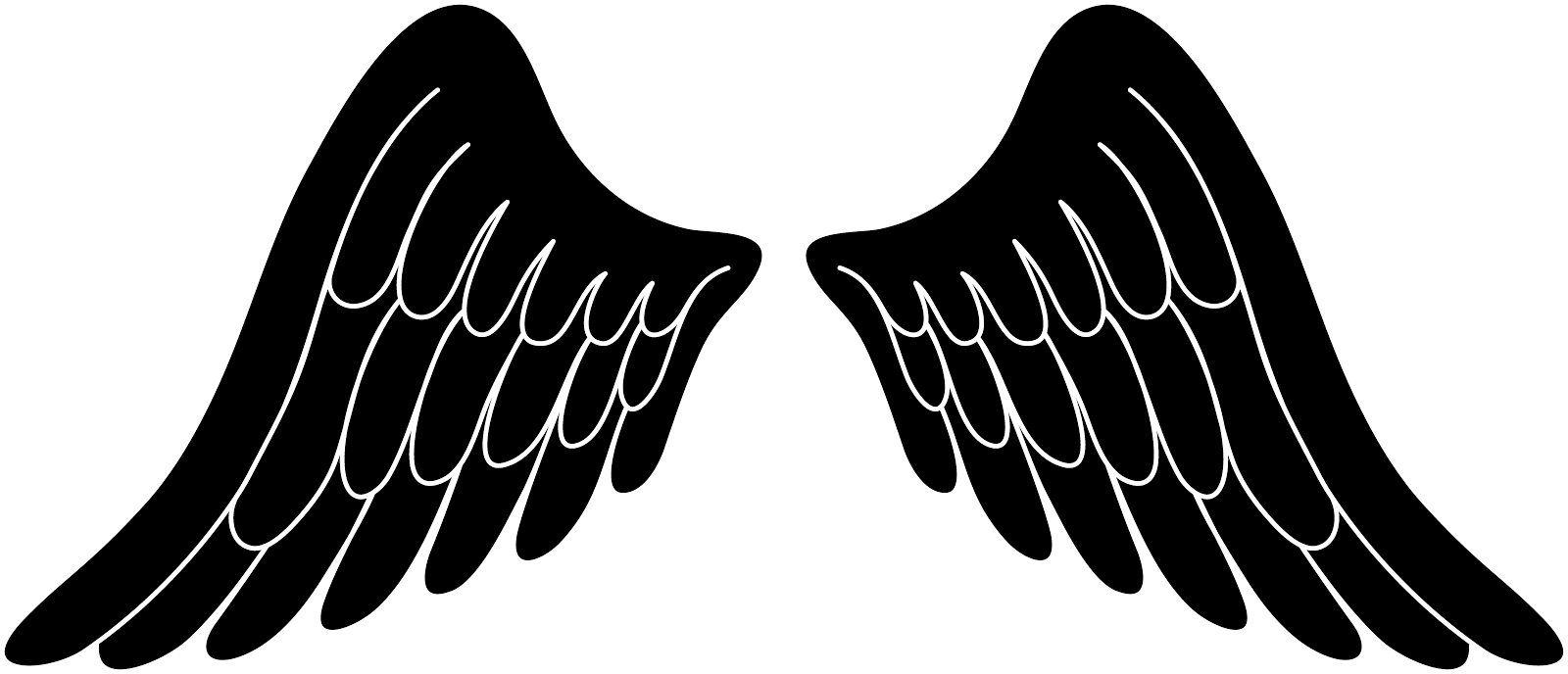 Wings clipart rock and roll Clipart Angel Black collection clipart