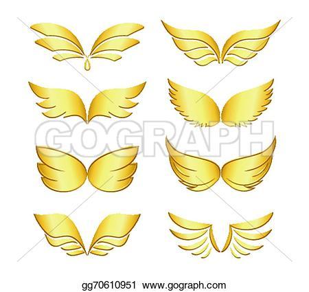 Wings clipart celestial Religion Illustration Golden Vector beings