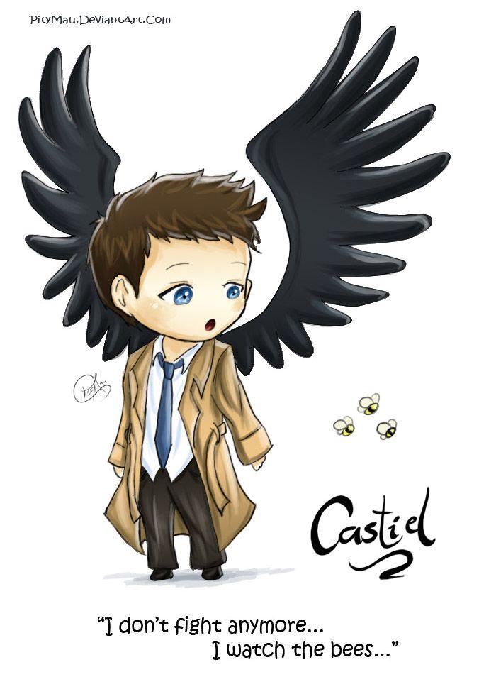 Wings clipart chibi Chibi Pinterest on supernatural 12