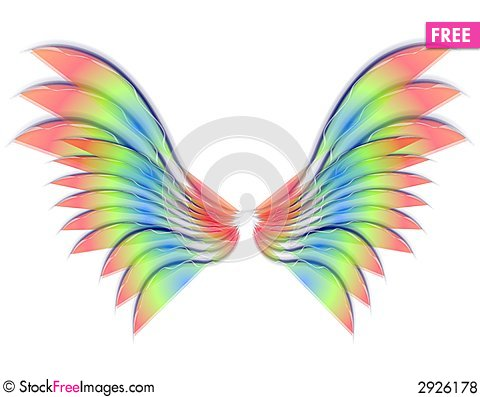 Wings clipart colorful bird Angel Wings Images  Stock