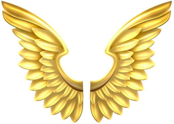 Wings clipart decorative Gallery Gold Transparent Clip PNG