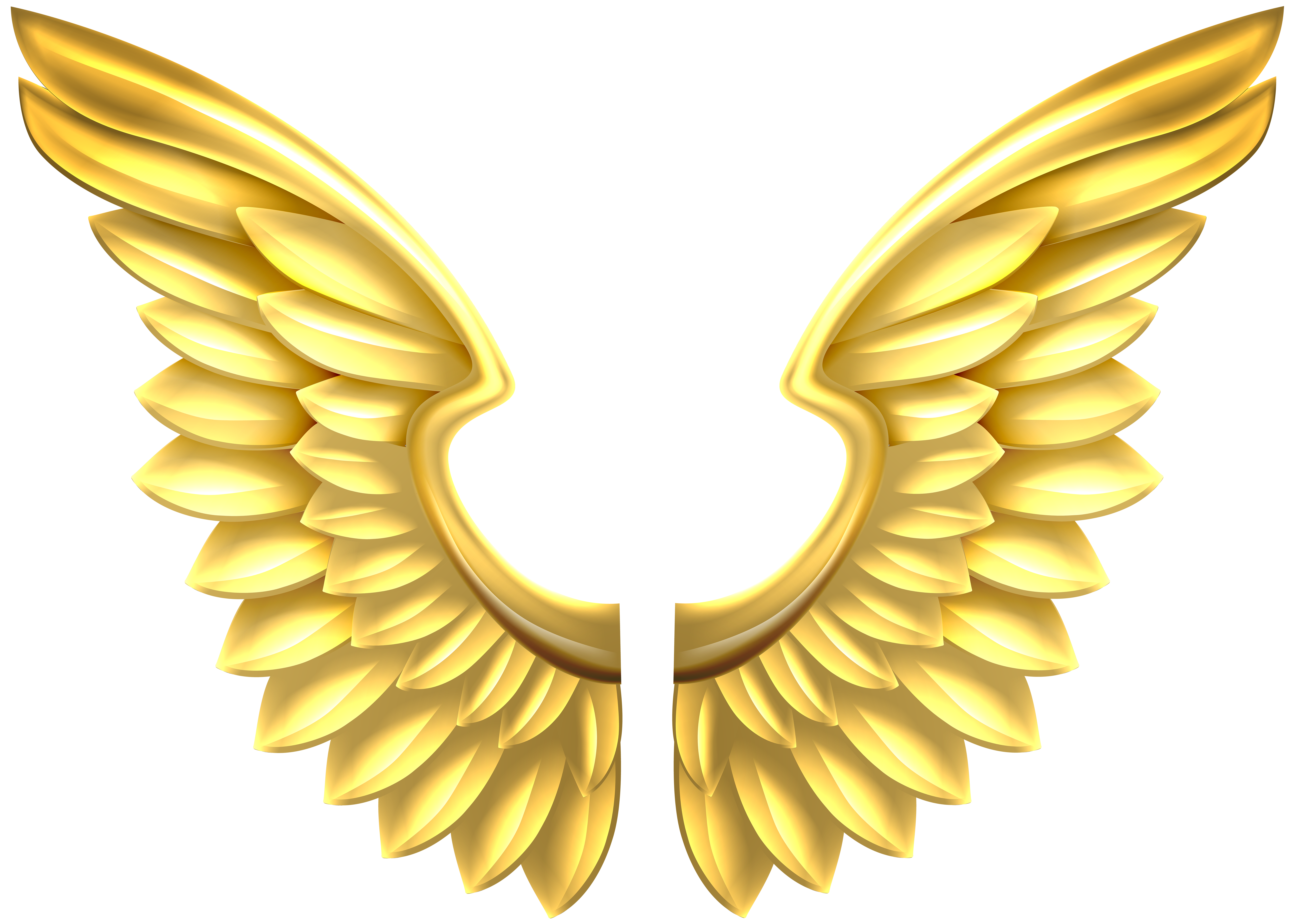 Wings clipart decorative Clip size Wings Gold View