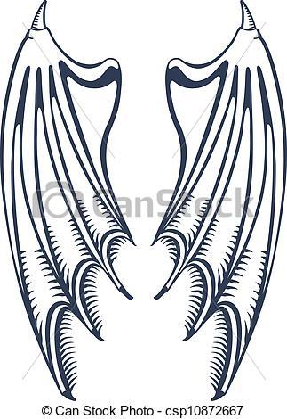 Wings clipart demon wings Wings Devil's  wings Clip