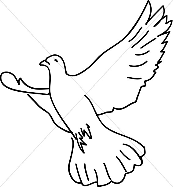 Wings clipart dove Soaring Dove Wings Expanded Clipart