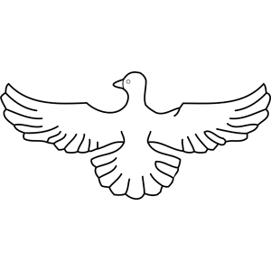 Wings clipart dove Coloring coloring Wings Dove Page
