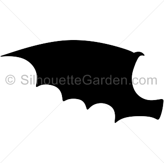 Wings clipart dragon Silhouette Silhouette Dragon Wing Wing