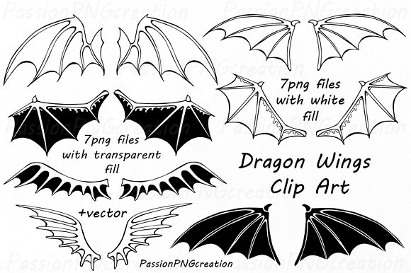 Wings clipart dragon Clipart Dragon Market ~ on