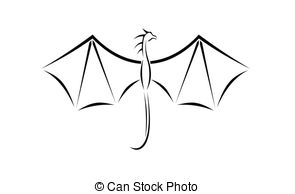 Wings clipart dragon Dragon  illustration wings Dragon
