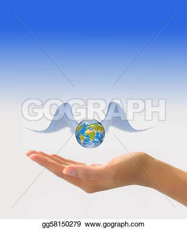 Wings clipart earth In in hand wings gg58150279