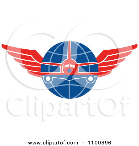Wings clipart earth Globe cliparts And Pilot Clipart