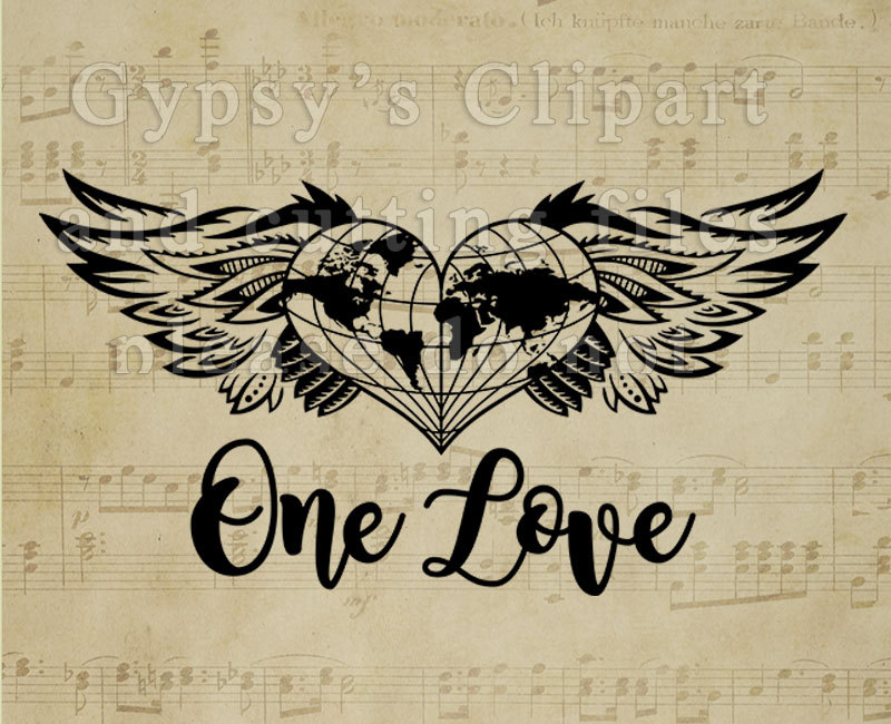 Wings clipart earth One To Love Born and