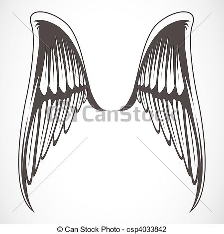 Wings clipart easy Stock 496 illustrated vector Set