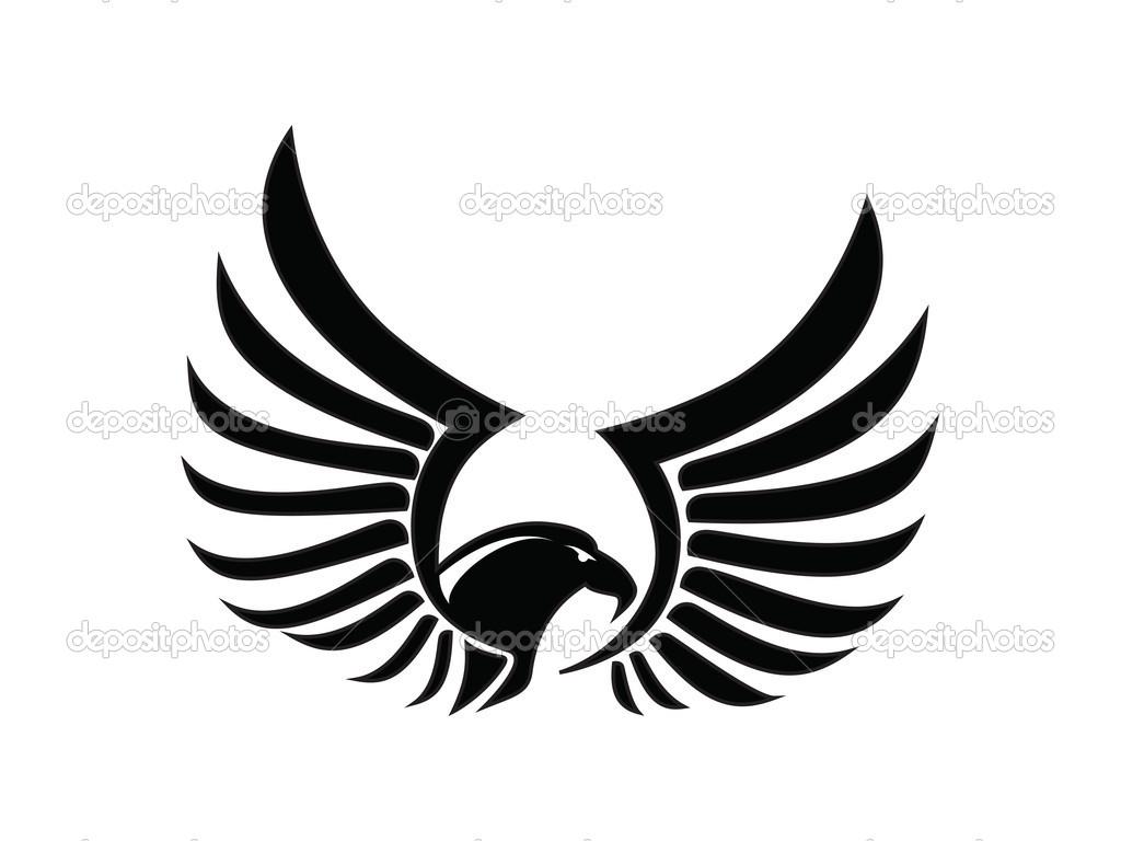 Wings clipart falcon wings Falcon Falcon Black vector Black