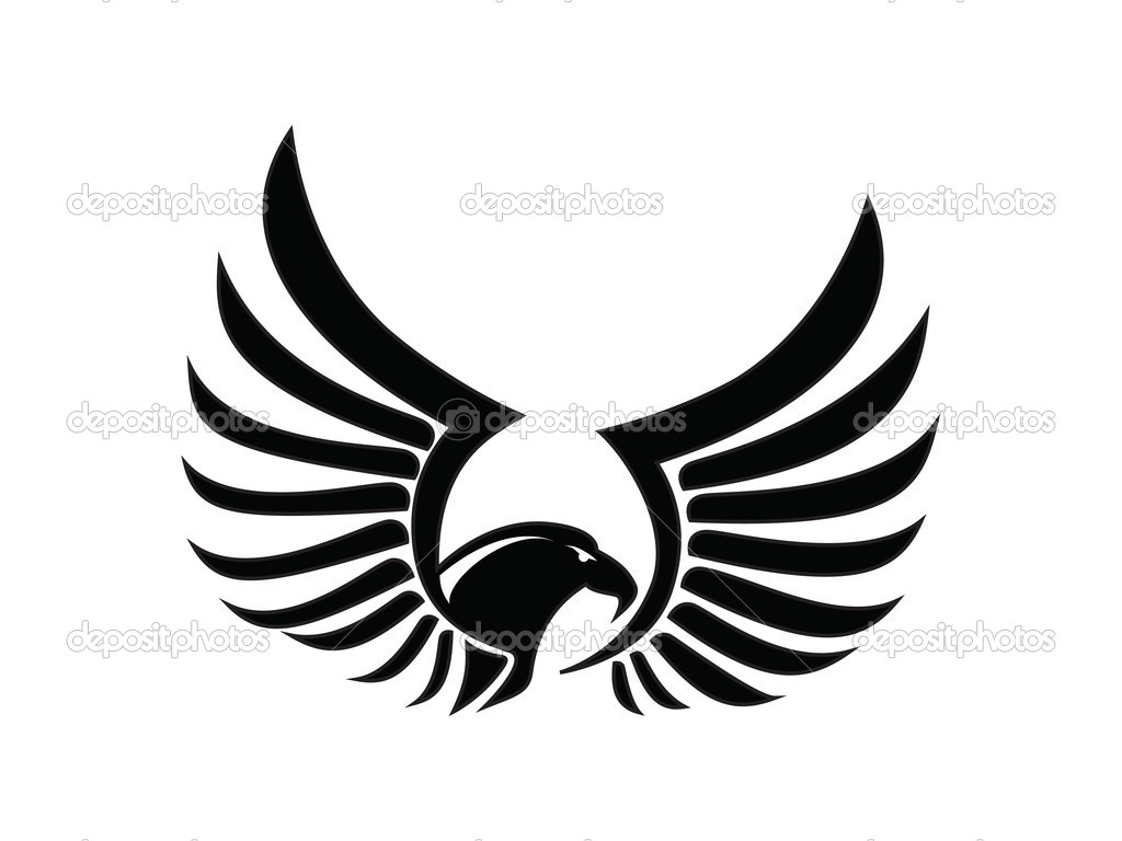 Wings clipart falcon wings Stock Falcon Black version vector