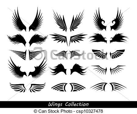 Wings clipart falcon wings 71 on Logos Soccer silhouettes
