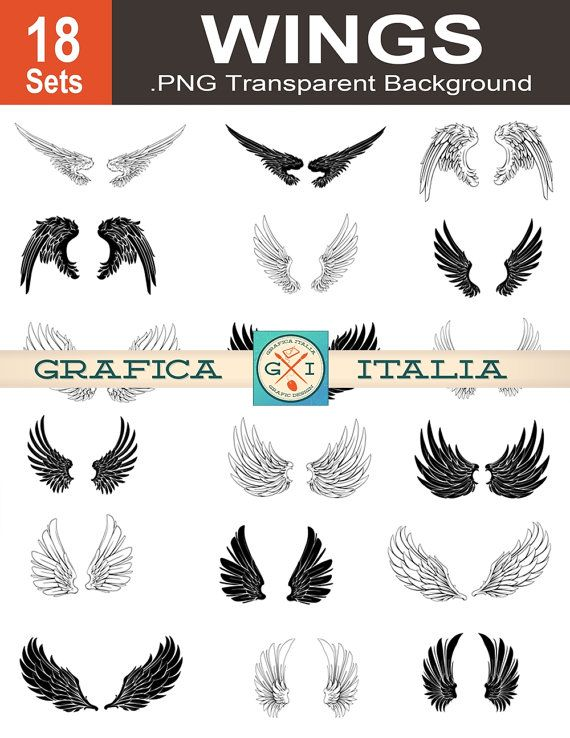 Wings clipart feather Pinterest 25+ Best Angel Wing