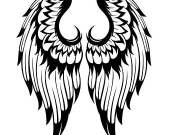 Wings clipart feather Clipart Digital Feather Fantasy Wings