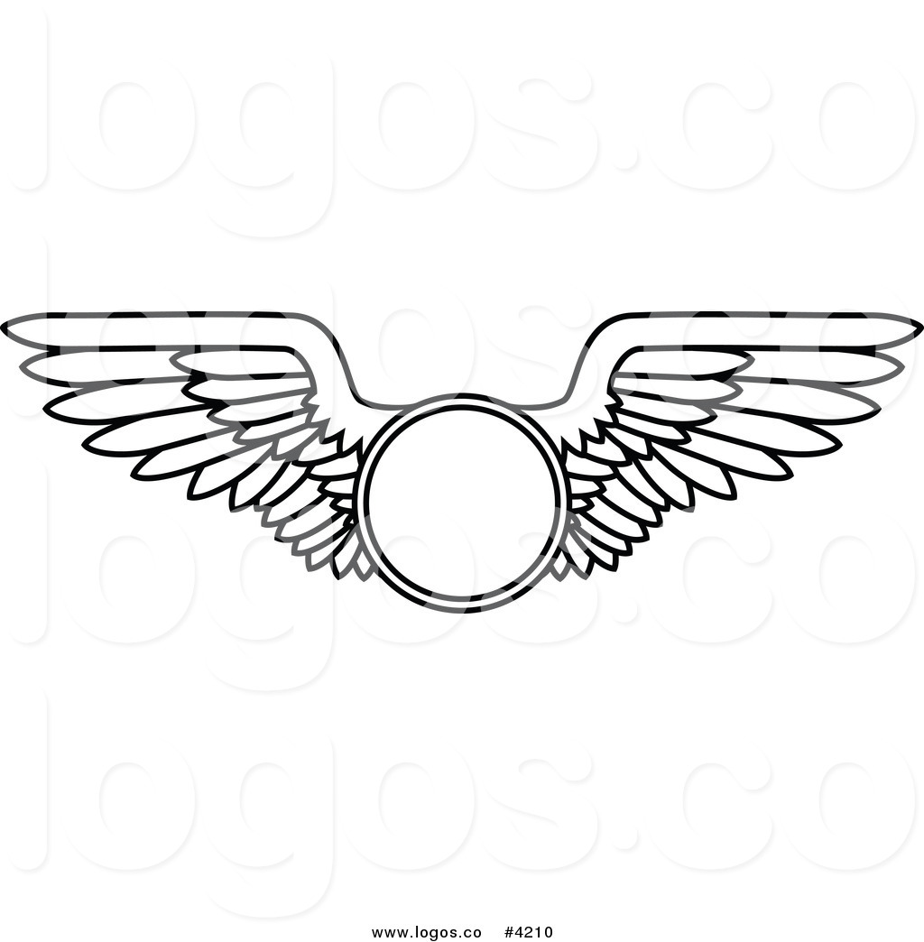 Wings clipart flight attendant Black wings with And Clipart